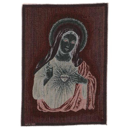 Arazzo Sacro Cuore di Maria 55x40 cm 3