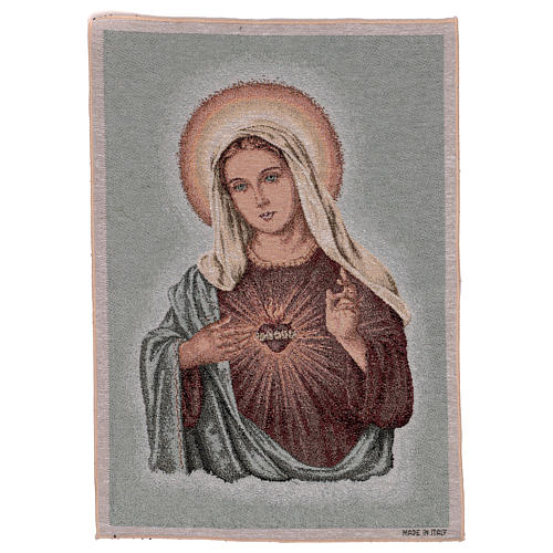 Holy Heart of Mary tapestry 21.5x16