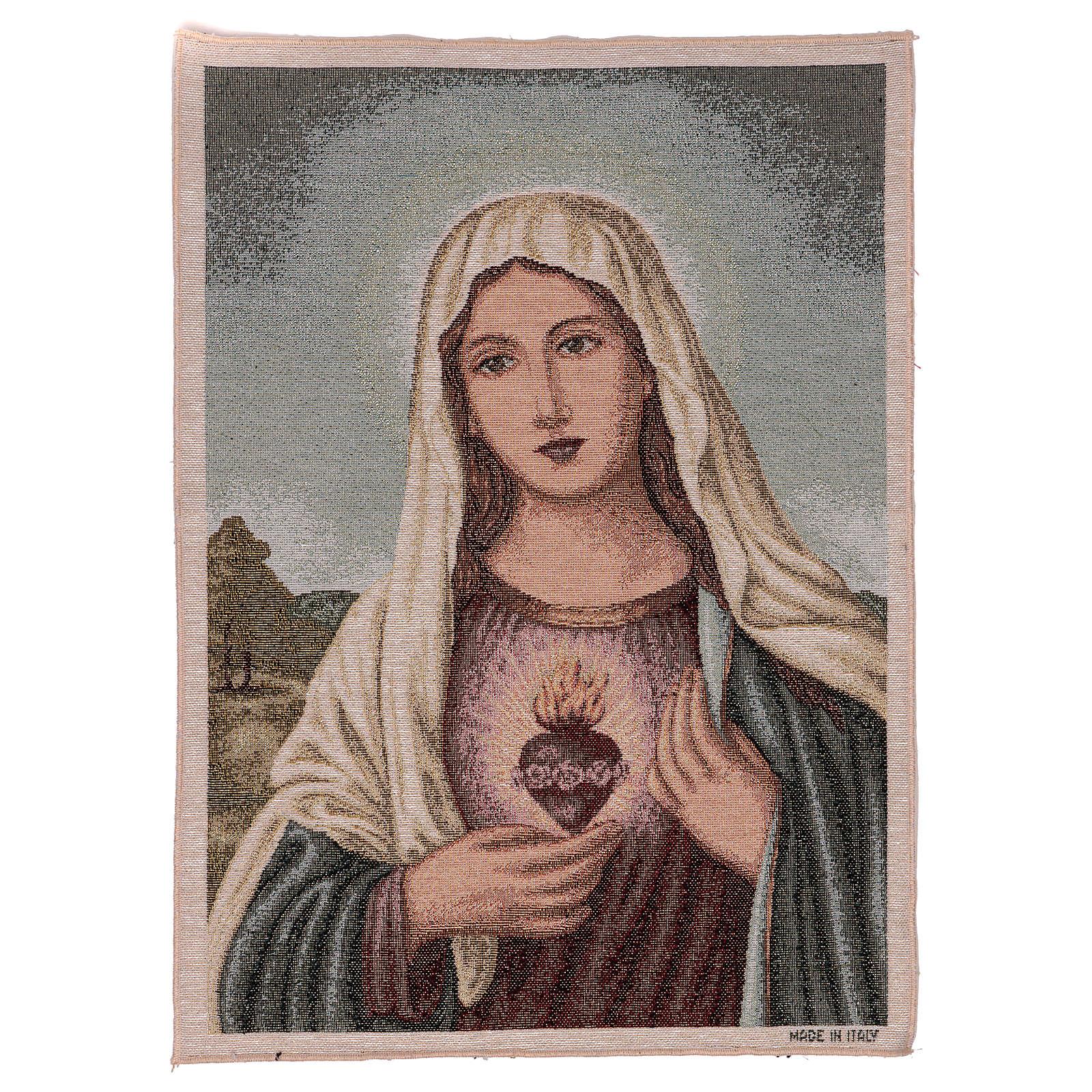 Gobelin Niepokalane Serce Maryi z pejzażem 55x40 cm 3