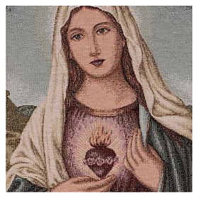 Gobelin Niepokalane Serce Maryi z pejzażem 55x40 cm s2