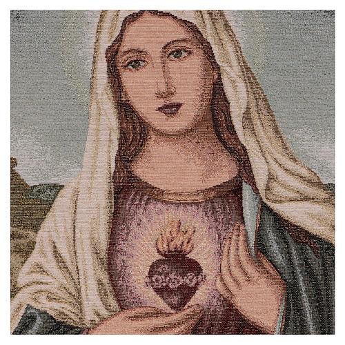 Gobelin Niepokalane Serce Maryi z pejzażem 55x40 cm 2