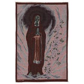 Arazzo Madonna di Lourdes nella grotta 60x40 cm s3