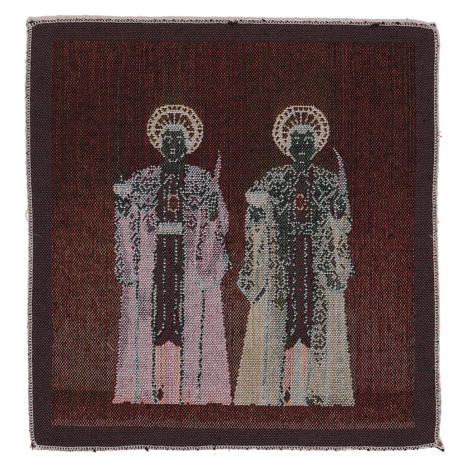 Arazzo Santi Cosma e Damiano 30x30 cm 3