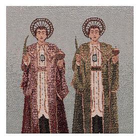 Arazzo Santi Cosma e Damiano 30x30 cm s2