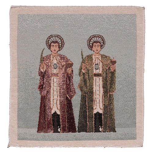 Arazzo Santi Cosma e Damiano 30x30 cm 1