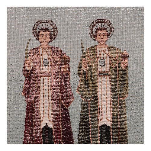 Arazzo Santi Cosma e Damiano 30x30 cm 2