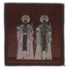 Gobelin Święci Kosma i Damian 30x30 cm s3