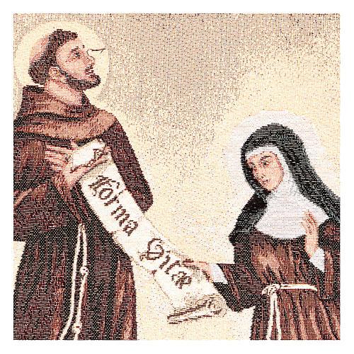Tapiz Don de la Regla San Francisco y Santa Clara 50x40 cm 2