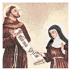 Arazzo Dono della Regola San Francesco e Santa Chiara 50x40 cm s2