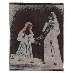 Gobelin Dar Reguły Święty Franciszek i Święta Klara 45x40cm s3