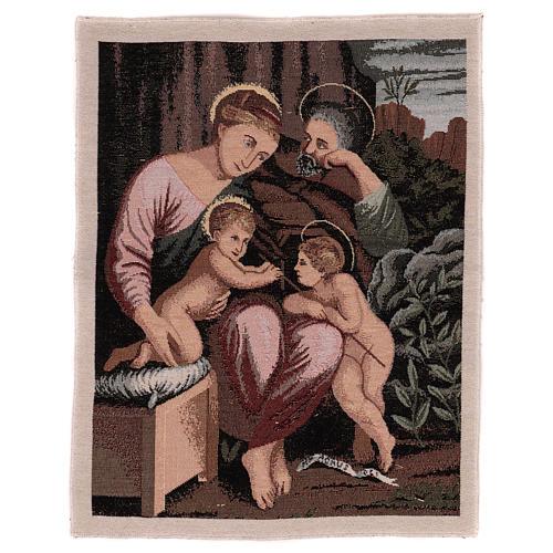 Arazzo Santa Famiglia e Battista Infante 50x40 cm 1