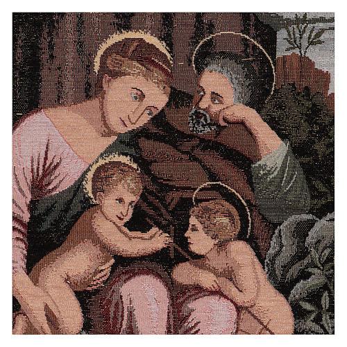 Arazzo Santa Famiglia e Battista Infante 50x40 cm 2