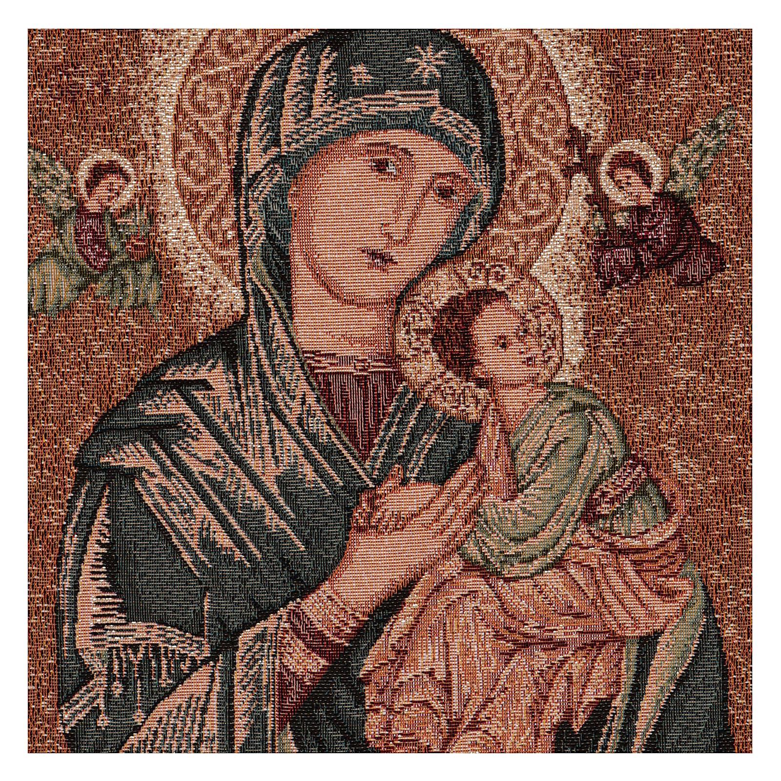 Arazzo Madonna del Perpetuo Soccorso cornice ganci 50x40 cm 3