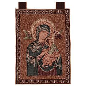 Arazzo Madonna del Perpetuo Soccorso cornice ganci 50x40 cm s1