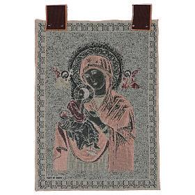 Arazzo Madonna del Perpetuo Soccorso cornice ganci 50x40 cm s3