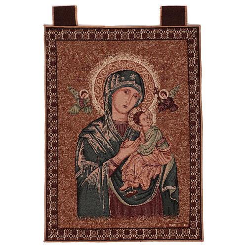 Arazzo Madonna del Perpetuo Soccorso cornice ganci 50x40 cm 1