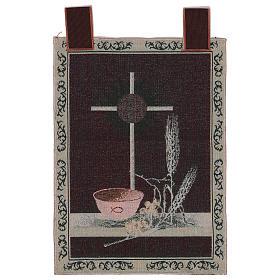 Arazzo Simboli Eucaristici 50x40 cm s3