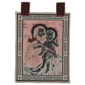 Wandteppich Heiliger Josef mit Lilie, mit Rahmen und Schlaufen 50x40 cm s3