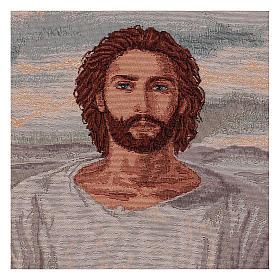 Arazzo Gesù Eucaristico con Calice cronice ganci 50x40 cm s2