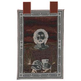 Arazzo Gesù Eucaristico con Calice cronice ganci 50x40 cm s3