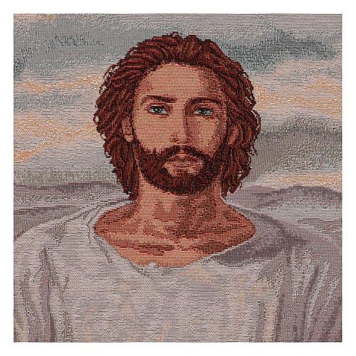 Arazzo Gesù Eucaristico con Calice cronice ganci 50x40 cm 2