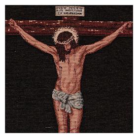 Wandteppich Christus am Kreuz nach Velasquez 50x40 cm s2