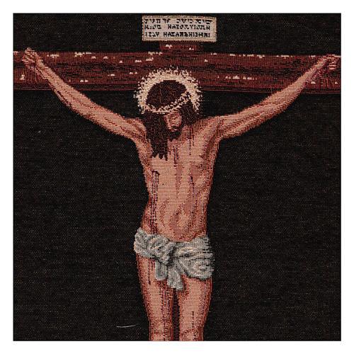 Wandteppich Christus am Kreuz nach Velasquez 50x40 cm 2