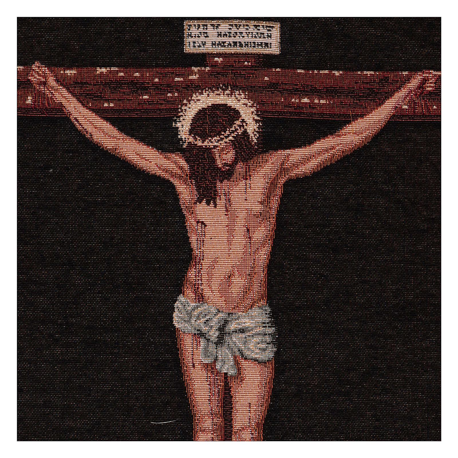 Arazzo Cristo Crocefisso del Velasquez 50x40 cm 3