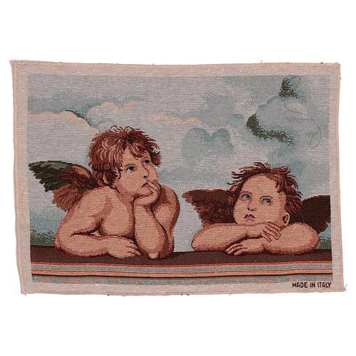 Arazzo Angeli di Raffaello 30x40 cm 1