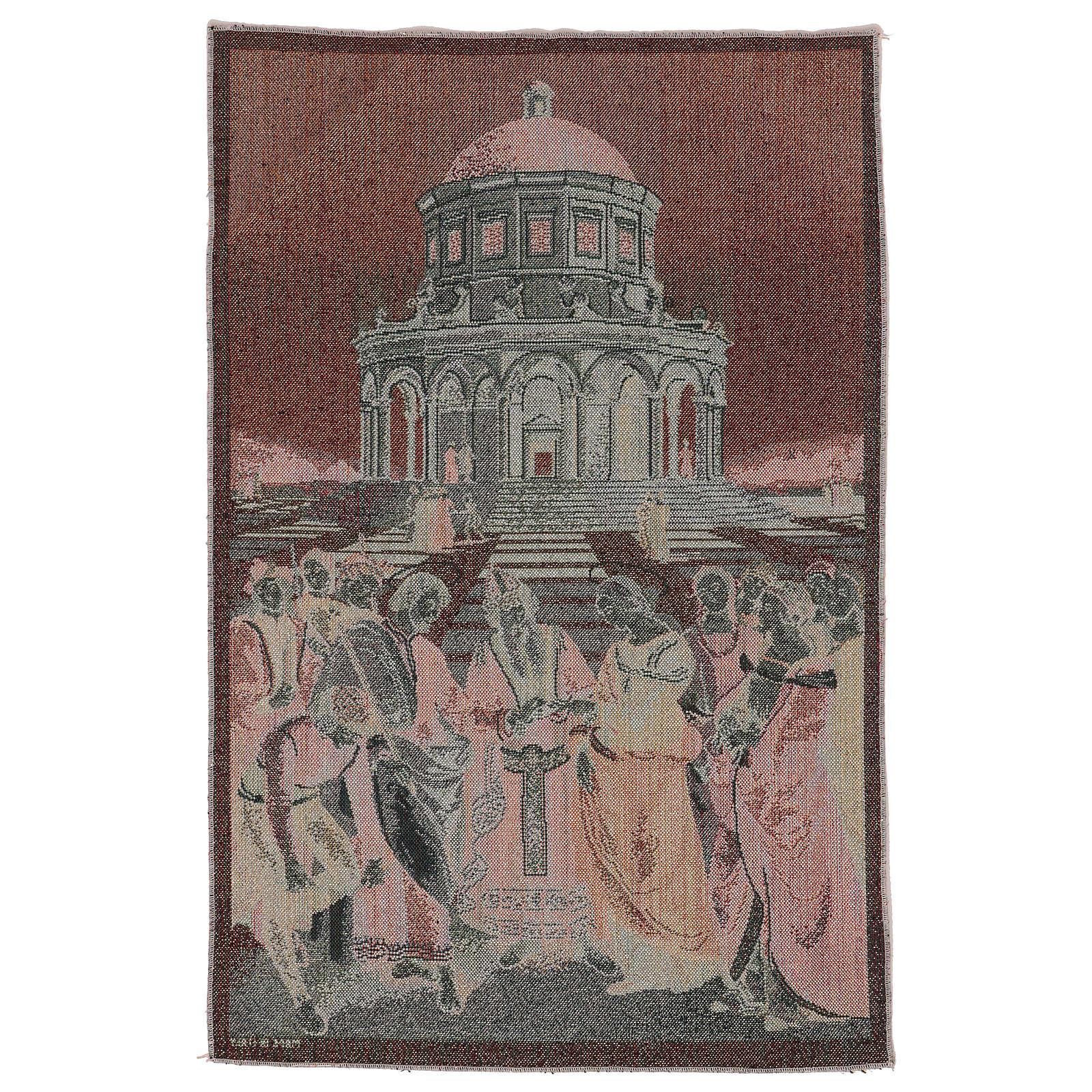 Arazzo Sposalizio della Vergine 60x40 cm 3