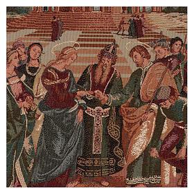 Arazzo Sposalizio della Vergine 50x40 cm s2