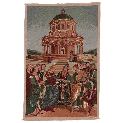 Arazzo Sposalizio della Vergine 50x40 cm 1