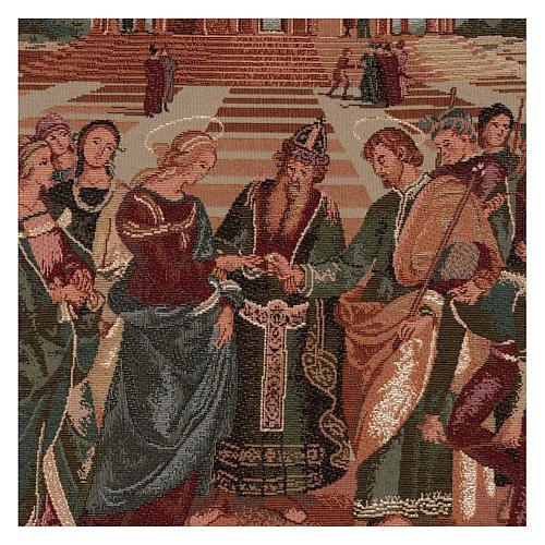 Arazzo Sposalizio della Vergine 50x40 cm 2