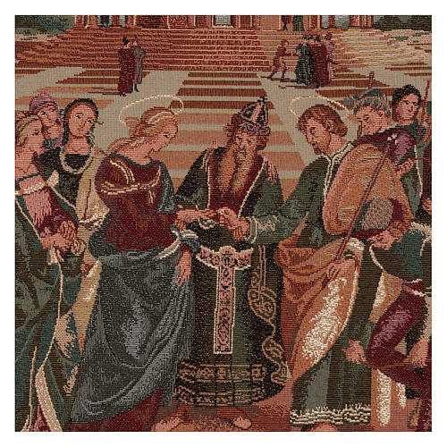 Arazzo Sposalizio della Vergine 60x40 cm 2