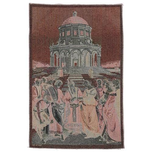 Arazzo Sposalizio della Vergine 50x40 cm 3