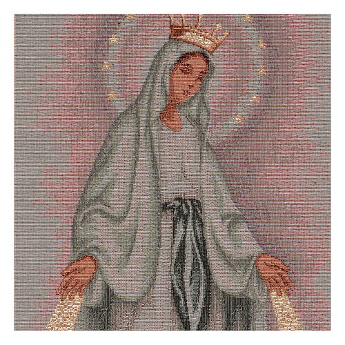 The Miraculous medal tapestry  50x30 cm 2
