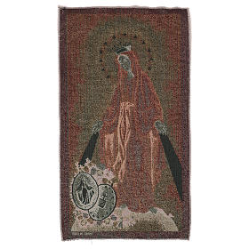 Miraculous medal tapestry 21x12