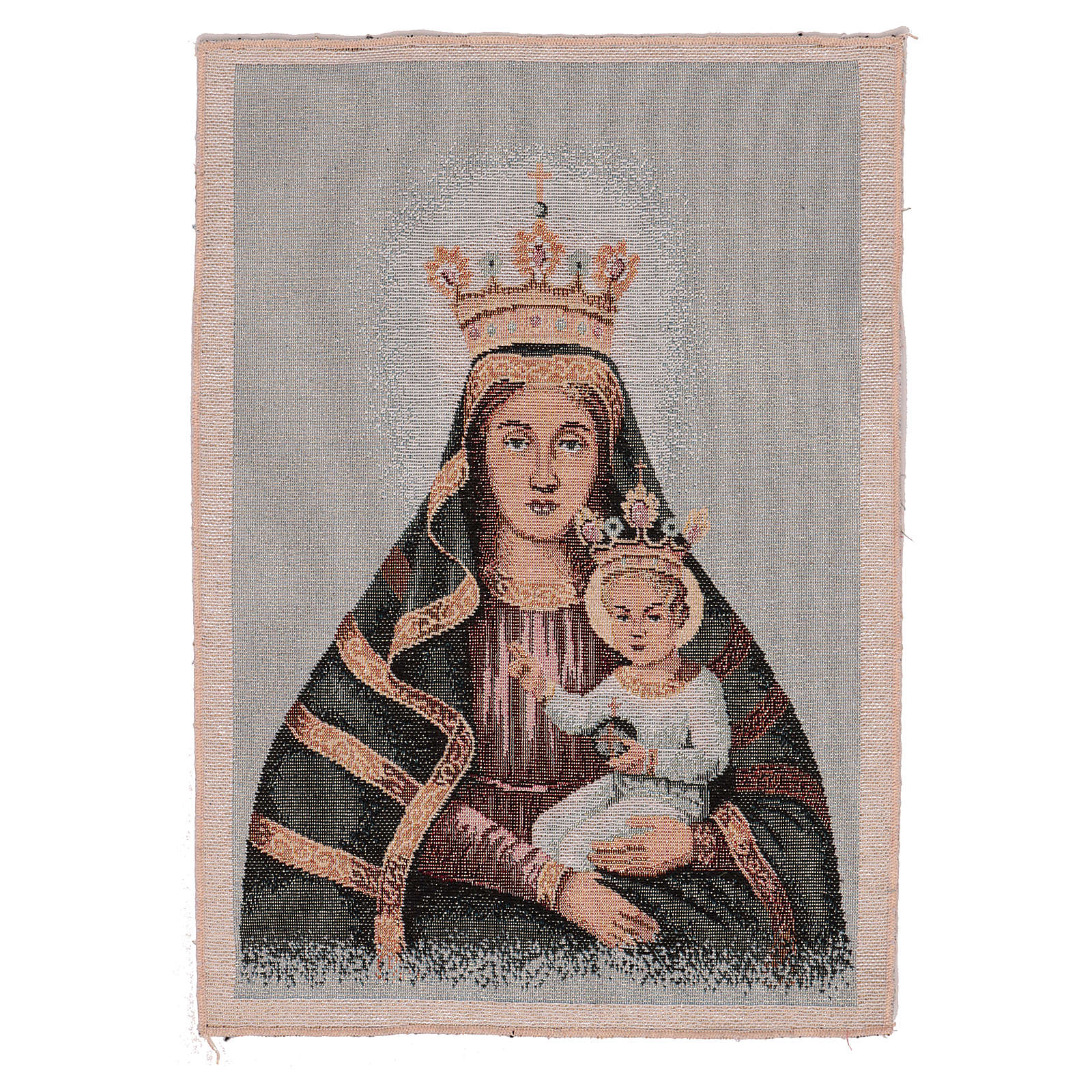 Blessed mother and child tapestry 15x11