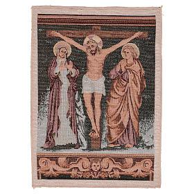 Gobelin Chrystus na krzyżu z Maryją i Janem 40x30 cm s1