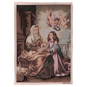 Tapisseries religieuses: Tapisserie Ste Anne de Murillo 50x40 cm