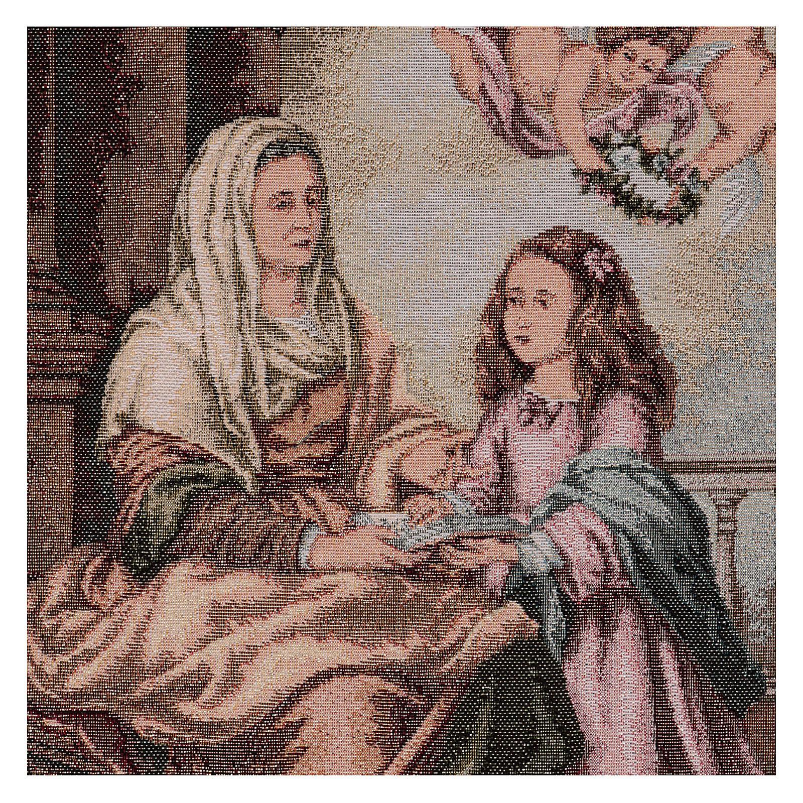 Arazzo S. Anna del Murillo 55x40 cm 3