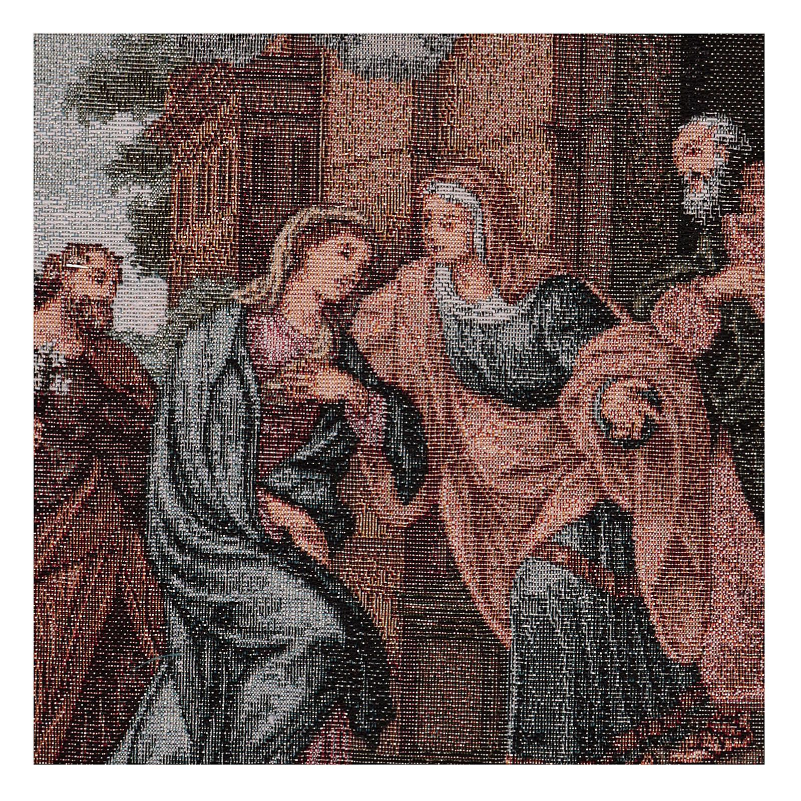Arazzo Visita di Maria ad Elisabetta 45x30 cm 3