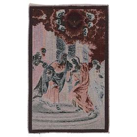 Arazzo Visita di Maria ad Elisabetta 45x30 cm s3