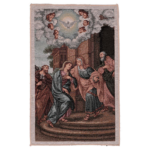 Arazzo Visita di Maria ad Elisabetta 45x30 cm 1