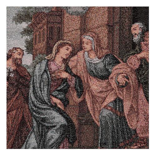 Arazzo Visita di Maria ad Elisabetta 45x30 cm 2
