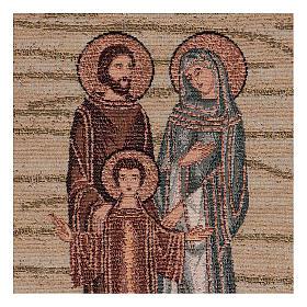 Arazzo Santa Famiglia Mosaico 40x30 cm s2