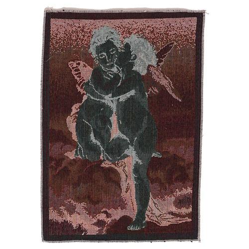 Wandteppich Amor und Psyche nach Bouguereau 40x30 cm 3