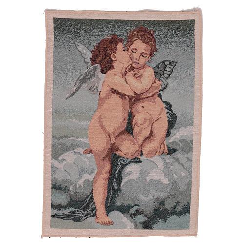 Arazzo Amore e Psiche di Bouguereau 40x30 cm 1