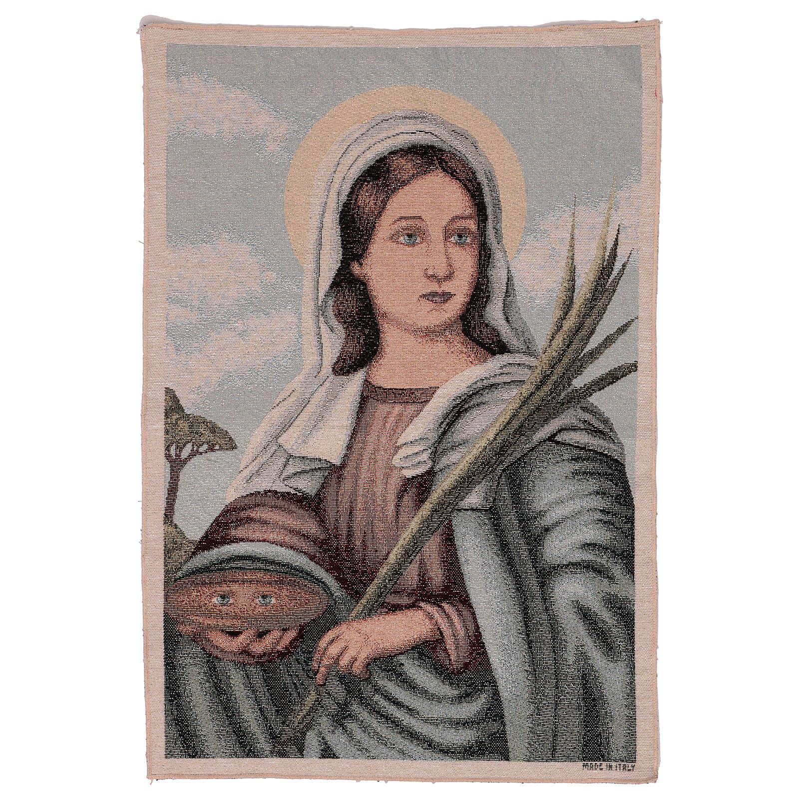 Saint Lucy tapestry 55x40 cm 3