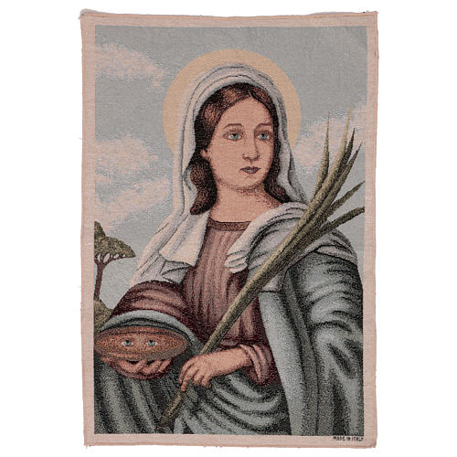 Saint Lucy tapestry 55x40 cm 1